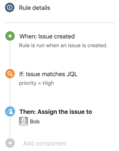 نمونه یک rule در Automation for Jira