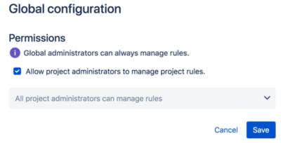 محدوده rule در Automation for Jira