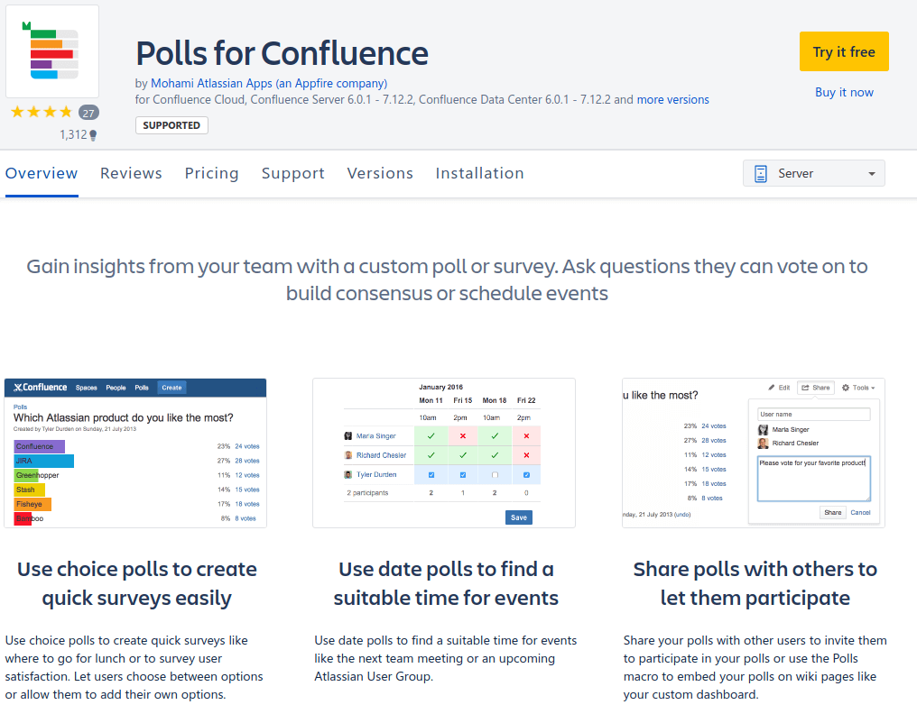polls for confluence